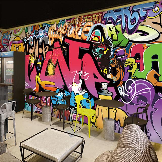 tapet graffiti fototapet coola tapeter ungdomstapet