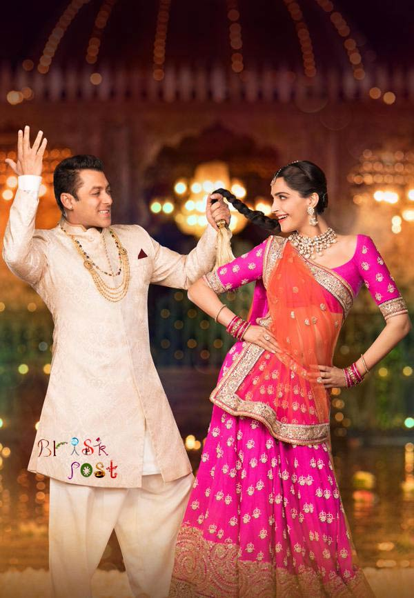 Salman holding hair braid of Sonam Kapoor in Prem Ratan Dhan Payo poster and reminding his chemistry with Aishwarya Rai Bachchan in Hum Dil De Chuke Sanam