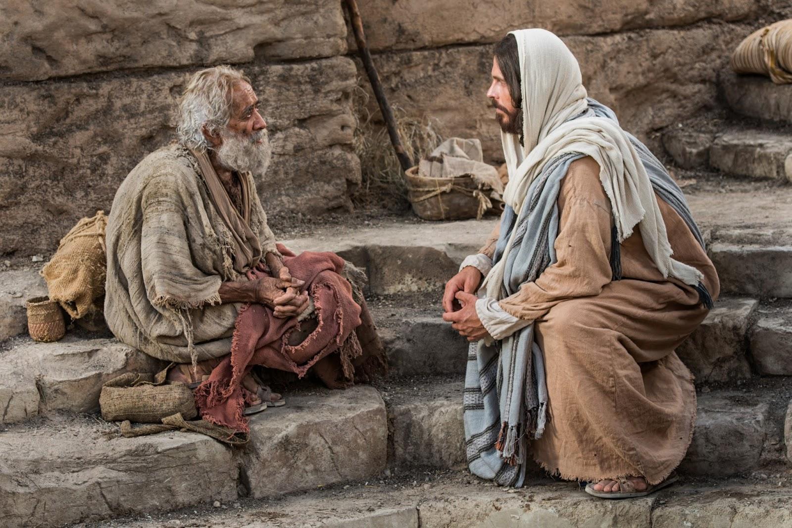 Jesus curou vários cegos