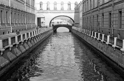 Saint-Pétersbourg, Leningrad, Ermitage, canal Zimnyaya, © L. Gigout, 1990