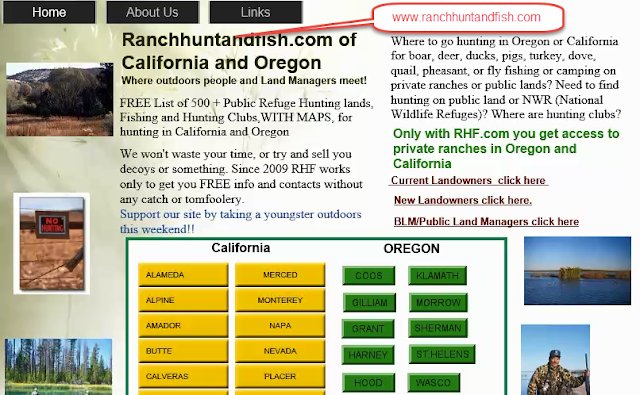 fishing report Grass valley, Fishing map and hunting clubs, hunting and fishing private ranches or lands oregon and california