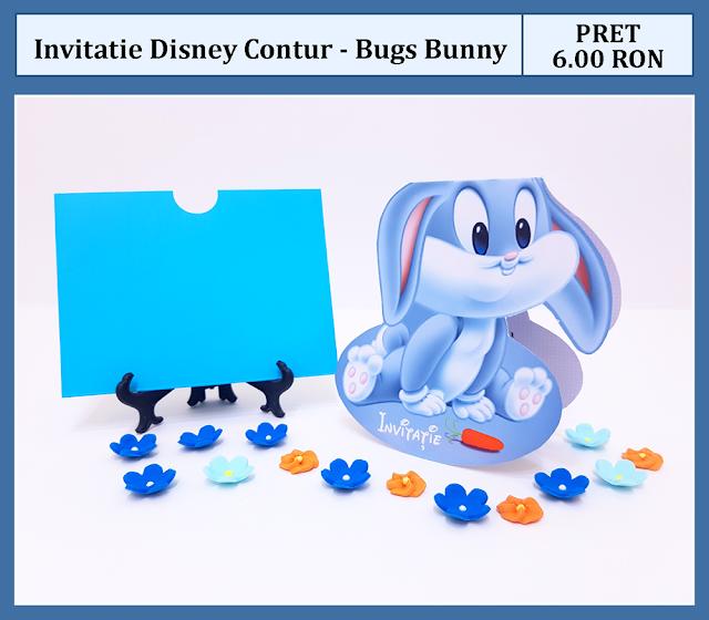 invitatii botez contur Bugs Bunny