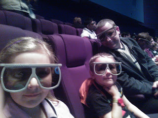 Daddy, Big Boy and Top Ender waiting for the IMAX film to start