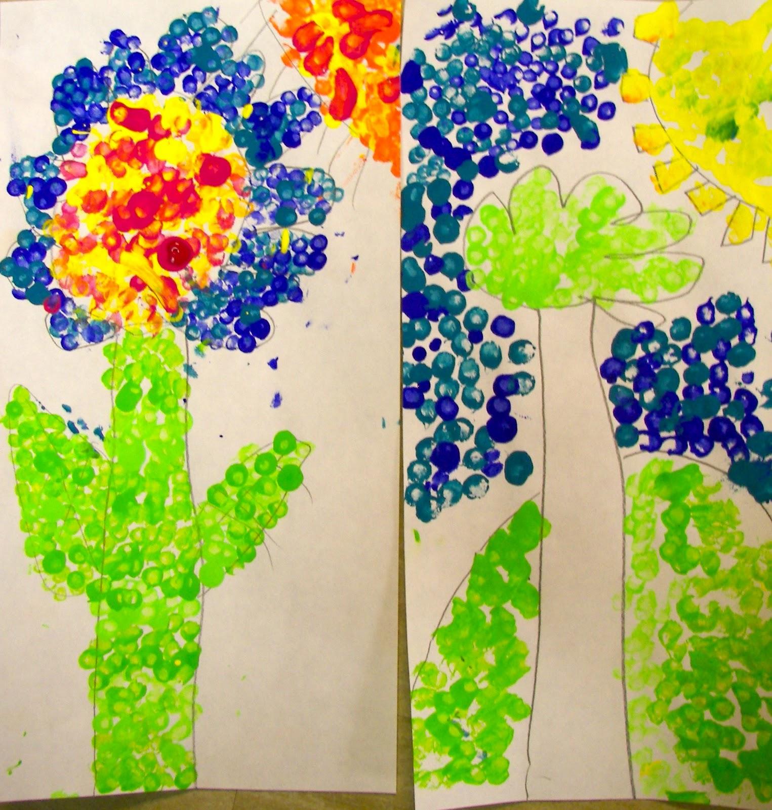 Organized Chaos 1st Grade Pointillism Lesson 2
