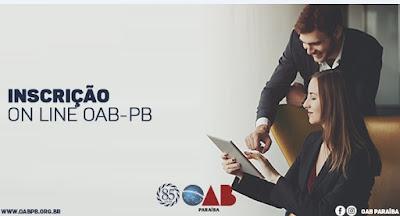 Processo de Inscrição Online da OAB-PB  está em andamento