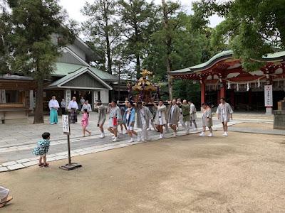 八坂神社神輿発輿祭(令和元年7月13日)