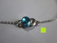 Anhänger vorne: Fashmond Schmuckset Schmuck-Sets eine Ohrringe, ein Armband und eine Halskette Kette mit Anhänger für Frauen Mädchen Blau aus Kristall