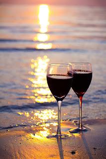 2 glasses red wine
