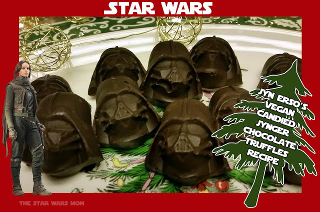 Jyn Erso's Vegan Candied Jynger Chocolate Truffles - Candied Ginger Chocolate Truffles Recipe - Star Wars Style