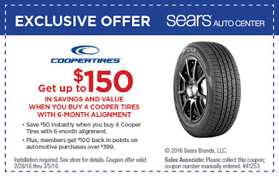 cooper tire coupon march 2016