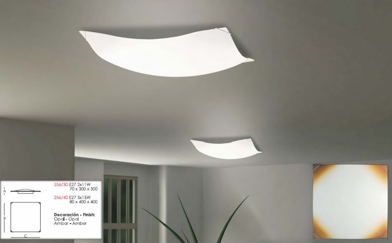 Iluminaci n y l mparas en madrid plafones para la cocina - Plafones de pared ...