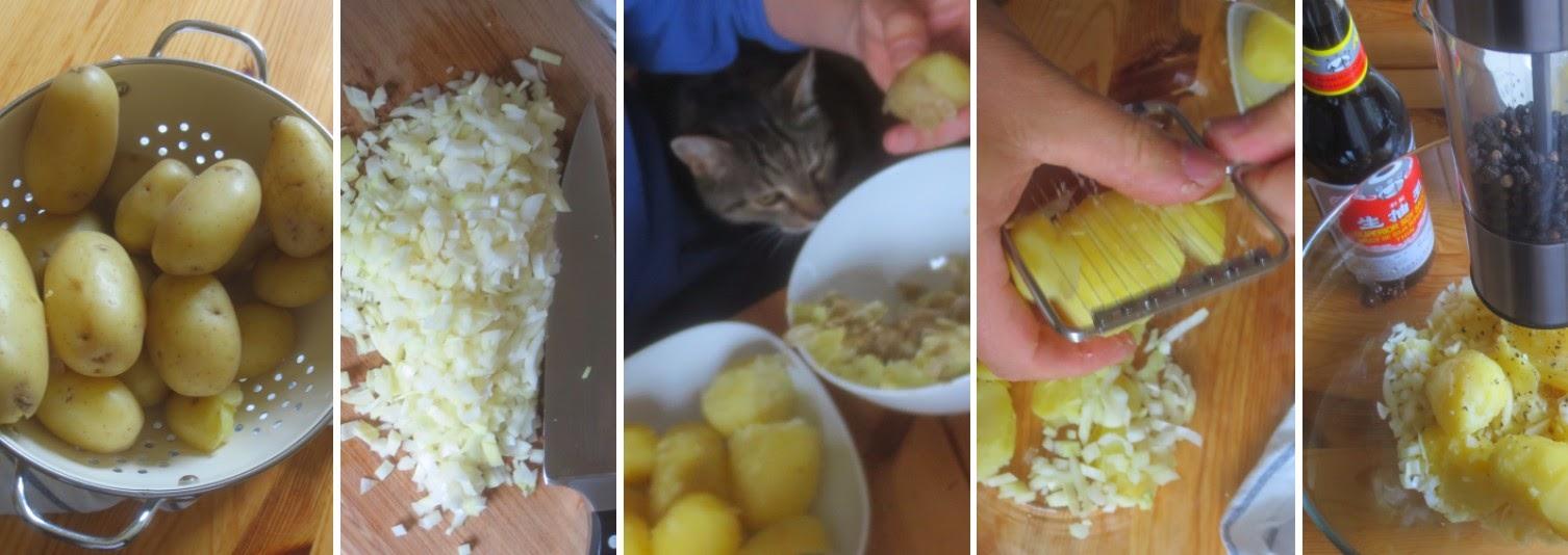 Zubereitung Schneller schwäbischer Kartoffelsalat (nach Ullis Tante Hilde)