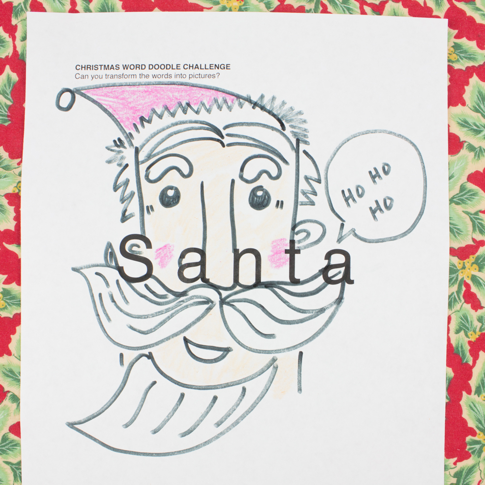 Free Christmas Printable Doodle Art Sheets Fun Challenge For The Whole Family