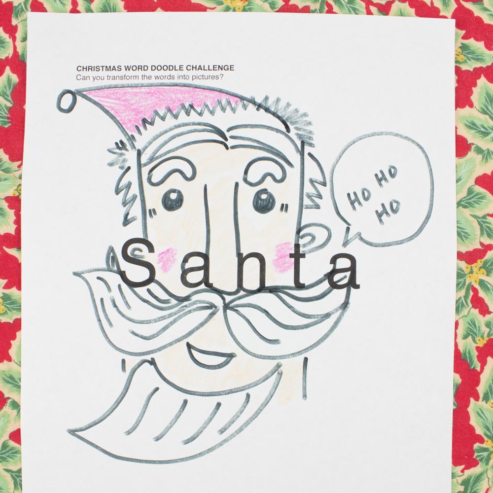 picture regarding Printable Christmas Art identify Xmas Term Doodle Artwork Problems! (No cost Printable