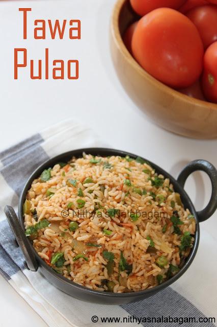 Mumbai street food Tawa Pulao