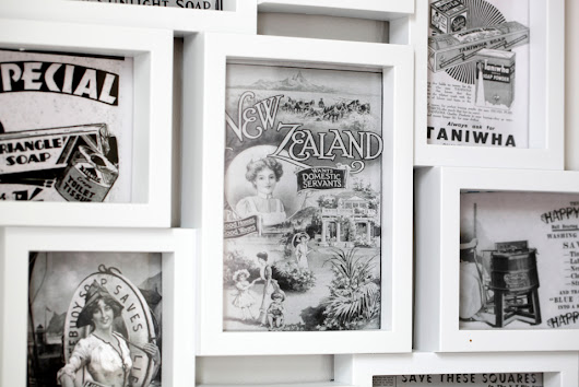 Using Postcards and Vintage Prints to Create Easy Custom Wall Art