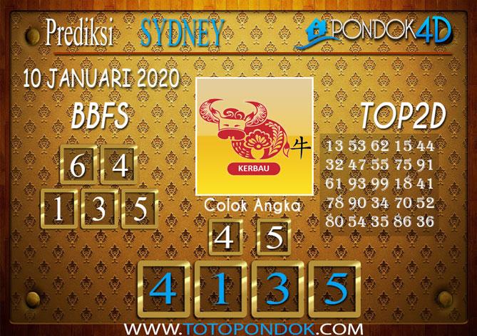 Prediksi Togel SYDNEY PONDOK4D 10 JANUARI 2020