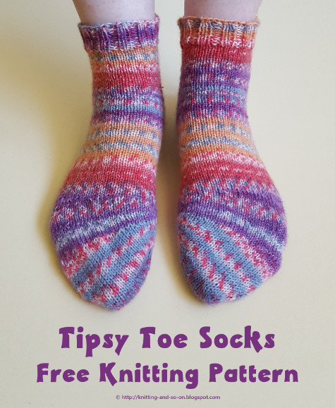 Knitting And So On Tipsy Toe Socks