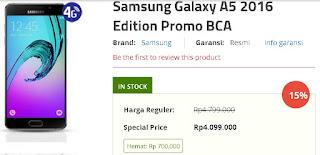 Promo BCA Spesial Harga Samsung Galaxy A5 2016 Rp 4.099.000