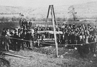 Cardiff giant exhumed, 1869