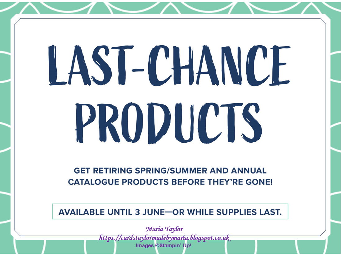 Cards Taylor Made by Maria: Last Chance Products!