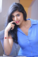 Telugu Actress Mounika UHD Stills in Blue Short Dress at Tik Tak Telugu Movie Audio Launch .COM 0168.JPG