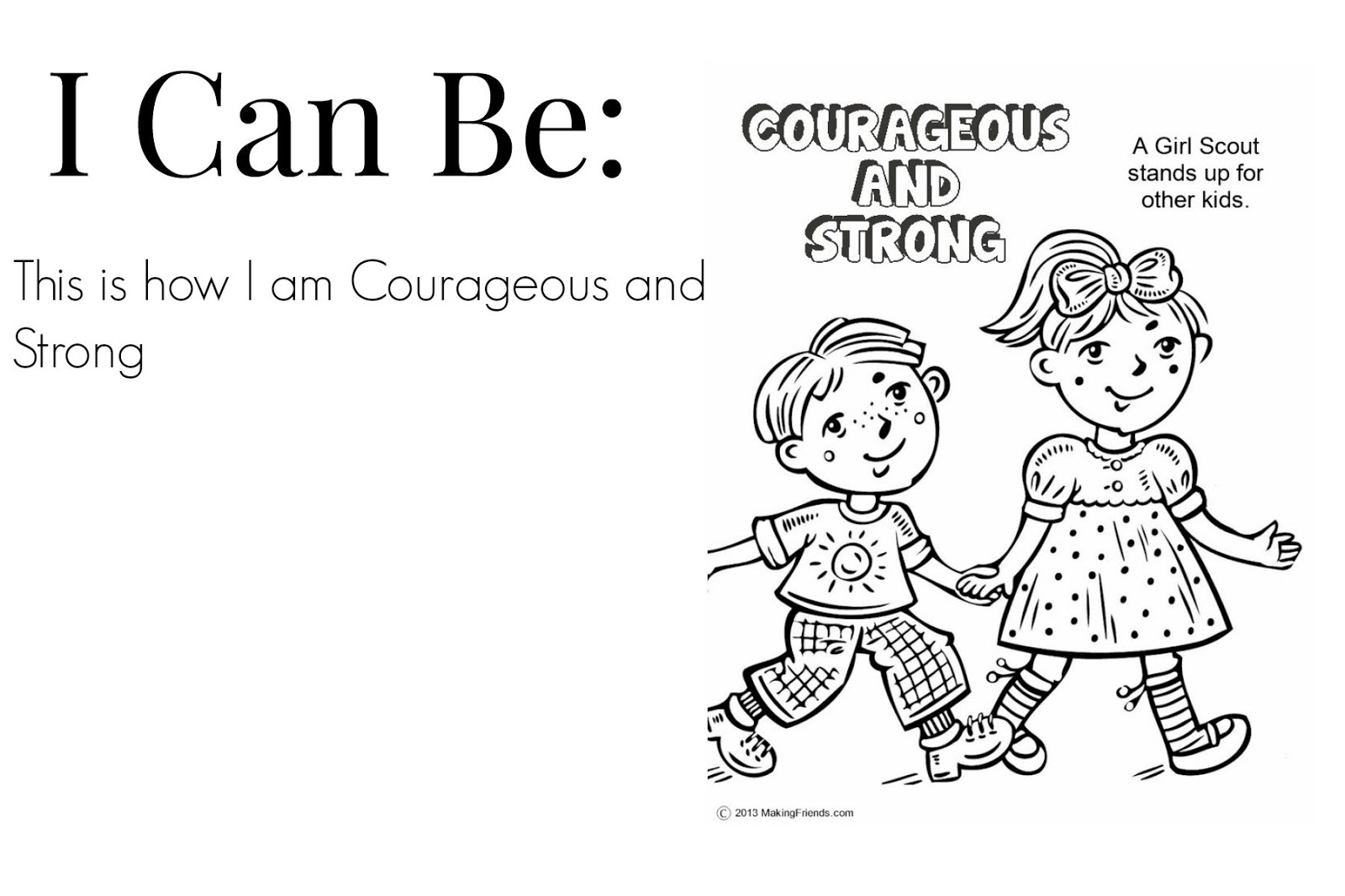 Scouts considerate and caring coloring pages murderthestout for Considerate and caring coloring page