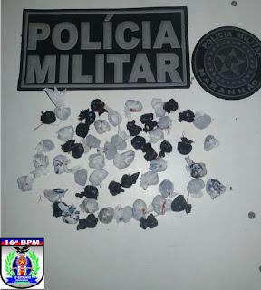 Em São Benedito, Policiais Militares apreendem grande quantidade de drogas dentro de cemitério