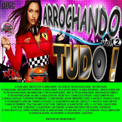 CD ARROCHANDO TUDO VOL.02 RDM STUDIO CDS / 16/03/2016