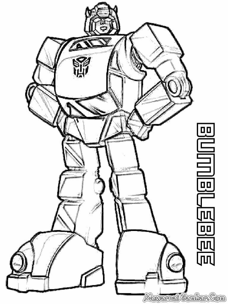 768 x 1024 jpeg 293kB Mewarnai  Robot  Transformer Mewarnai