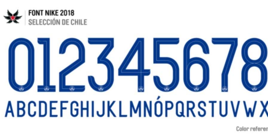 cosecha Sumergir Salida hacia  TIPOGRAFIAS Y FONTS: Font Selección de Chile / NIKE 2018