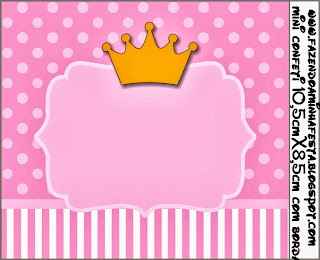 Princess Crown Free Printable Candy Bar Labels Oh My
