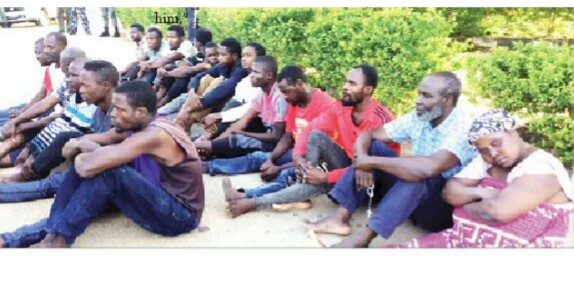Faces Of Suspects Paraded For Murder Of General Alkali