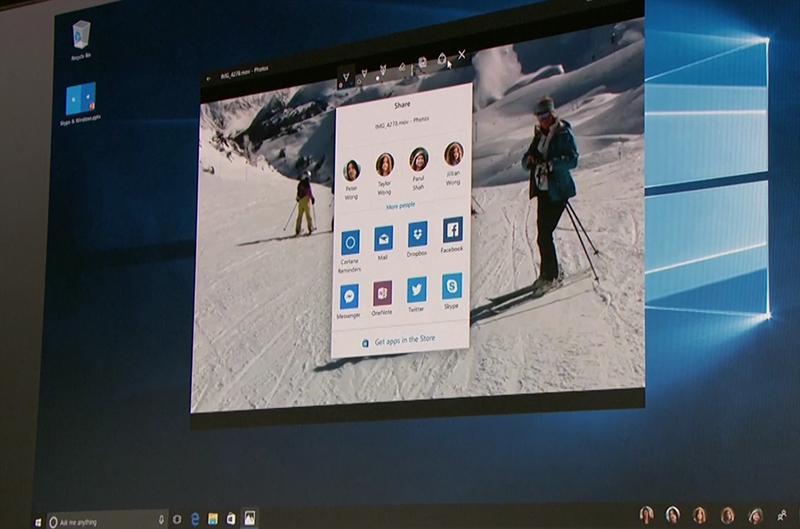 """Anteprima nuova funzione """"Condividi"""" di Windows 10 HTNovo"""