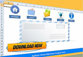 Amplop Surat Dinas Cetak Mudah Dengan Aplikasi Berbasis Excel ini