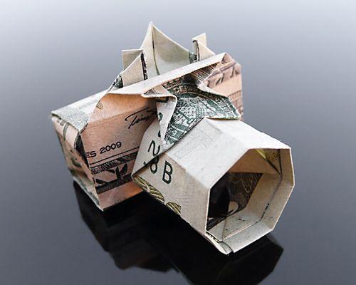 Origami Money folding: Shirt and Tie! | 400x500