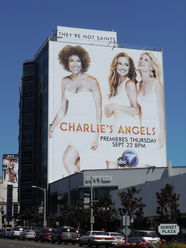 Giant Charlie's Angels remake billboard