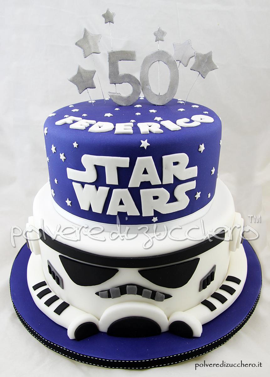 Conosciuto Torta di compleanno Star Wars con Darth Vader in pasta di zucchero  KZ11