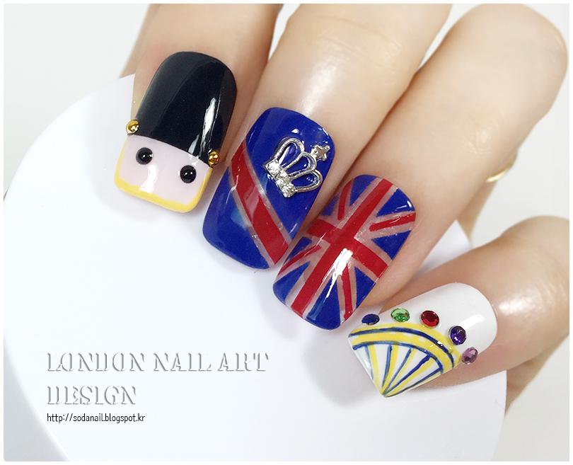 sodaNaiL: Union Jack nail art design - Britain nails