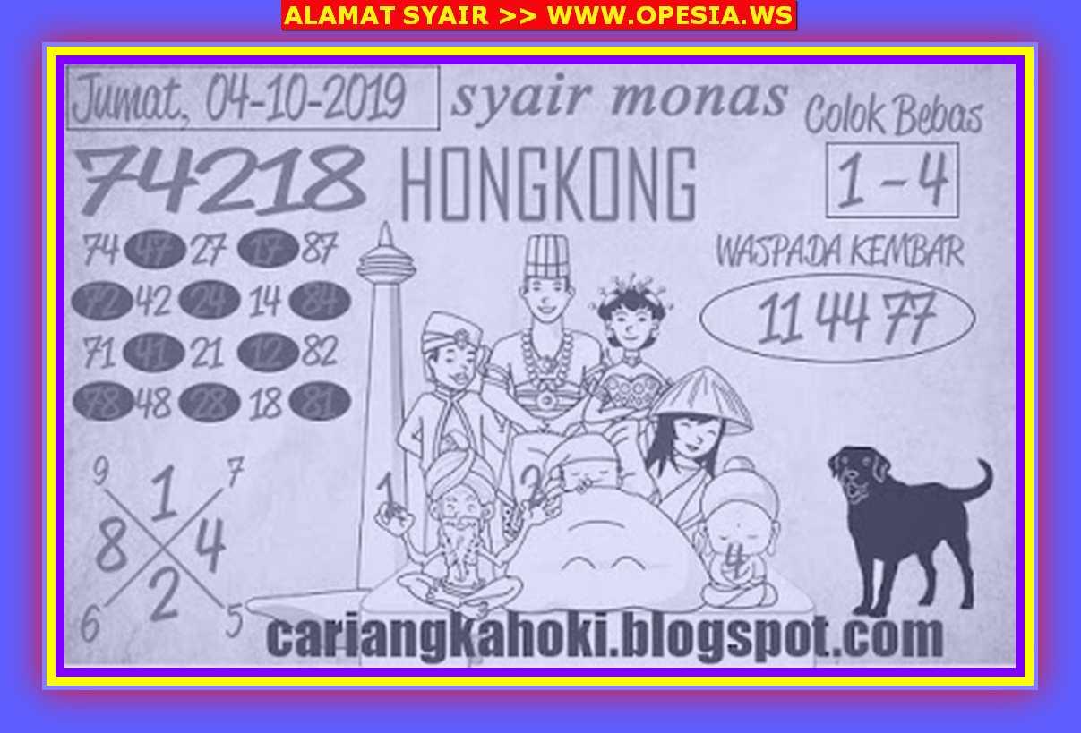 Kode syair Hongkong Jumat 4 Oktober 2019 90