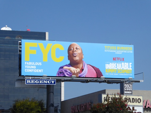 Tituss Burgess Kimmy Schmidt 2016 Emmy nomination FYC billboard