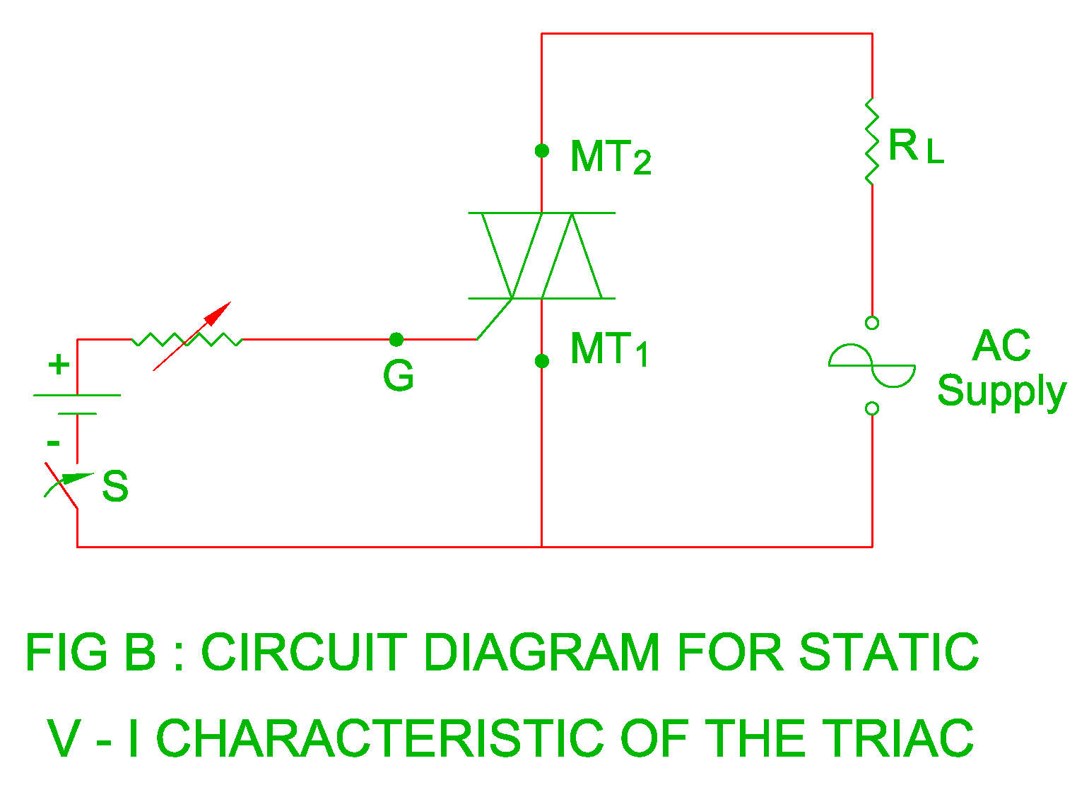 ( 2 ) When MT2 is made positive with respect to MT1, the triac turns on and  current flows through MT2 to MT1 terminal. circuit diagram ...