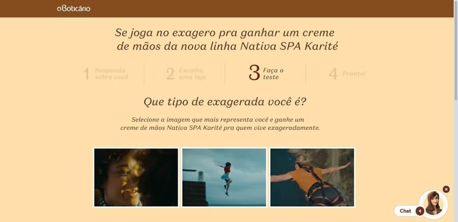 Produto grátis Nativa SPA Creme para Mãos Karité O Boticário
