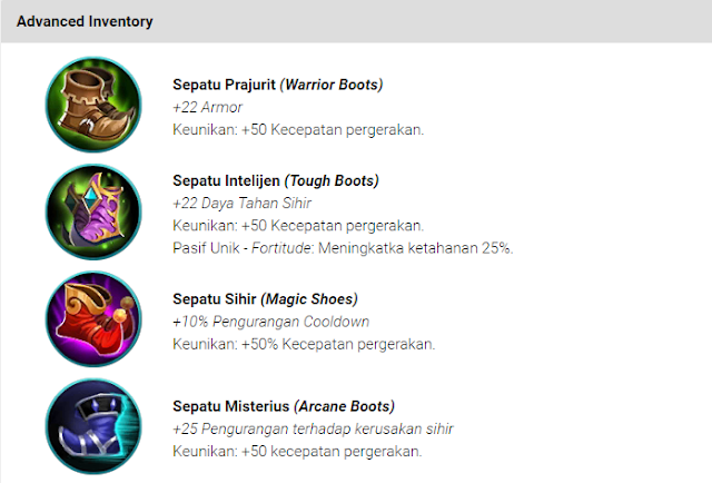 Item Kelincahan (Movement) Mobile Legends: Bang bang