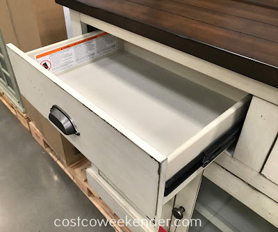 Bayside Furnishings Accent Cabinet drawer for extra storage