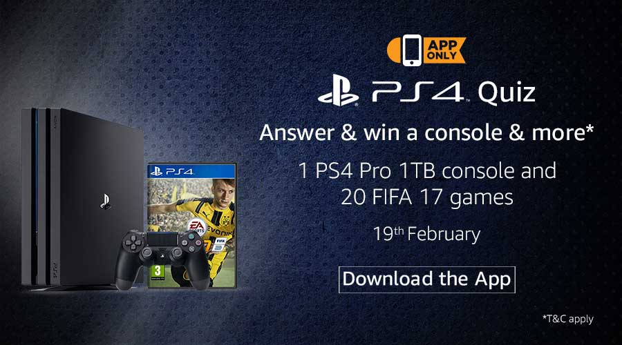 Play Station PS4 Quiz Contest Win Free - Freebie Giveaway