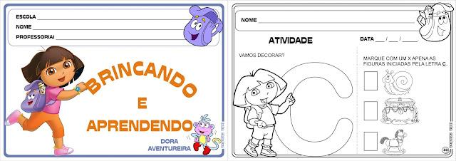Caderno de Atividades Brincando e Aprendendo com Dora Aventureira