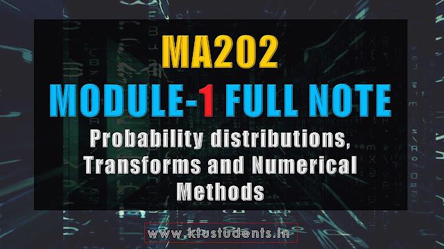 ktu ma202 module 1 note