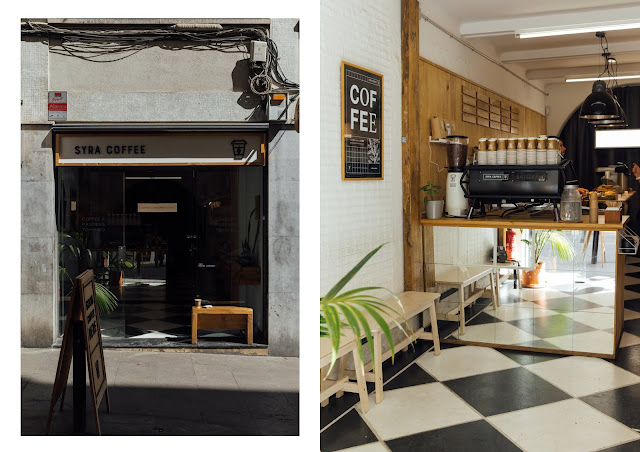 syra speciality coffee shop design store in barcelona, city guide