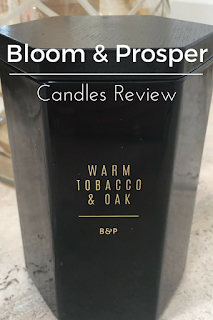 bloom and prosper candle review tobacco oak comforting sandalwood
